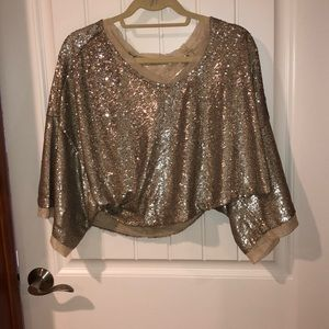Brand new free people sparkly shirt
